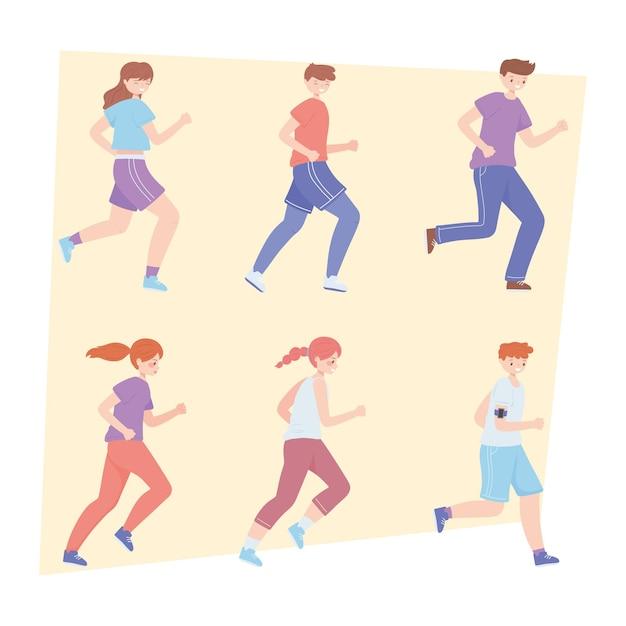 Ropa deportiva para adolescentes corriendo