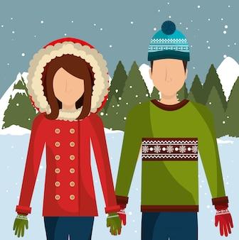 Ropa de moda de invierno y accesorios.