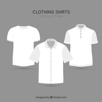 Ropa de moda del paquete de vectores t-shirt
