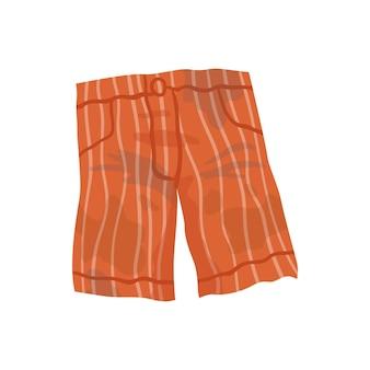 Ropa sucia. pantalones cortos manchados de grasa. manchas de barro de lavandería en las prendas.
