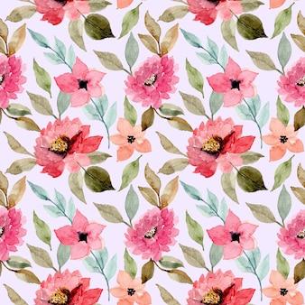 Rosa acuarela flor de patrones sin fisuras