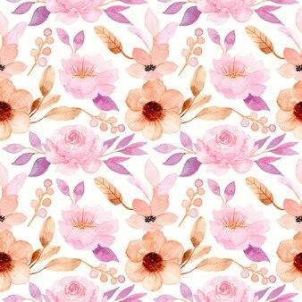 Rosa acuarela floral de patrones sin fisuras