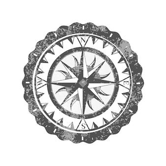 Rosa de los vientos aislado en el icono de fondo blanco