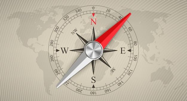 Rosa de los vientos brújula magnética, viajes, turismo.