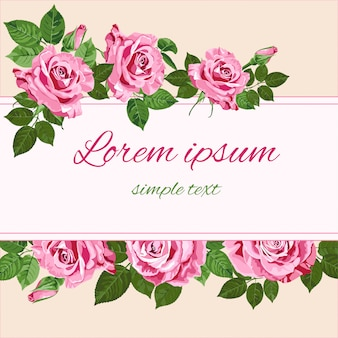 Rosas rosadas brillantes art-29