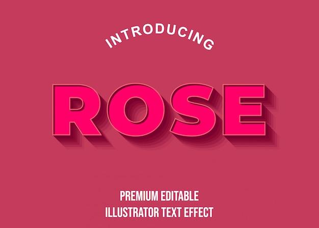 Rose - efectos de fuente de estilo de texto 3d rosa