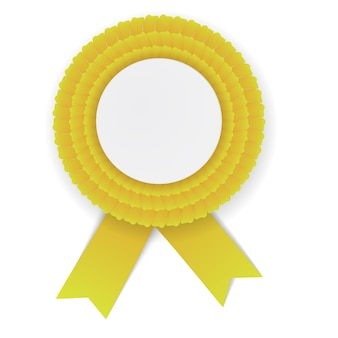 Roseta de colores amarillo