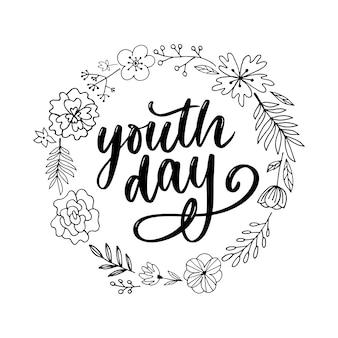 Rotulación del día internacional de la juventud.