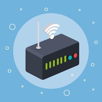 Router módem wifi internet señal conexión tecnología
