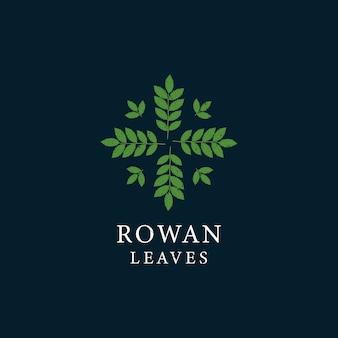 Rowan deja logotipo vintage redondeado