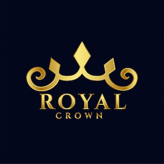 Royal crown logo concept icono premium diseño