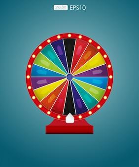 Rueda colorida de la suerte o la fortuna. ilustración vectorial