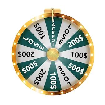 Rueda de la fortuna, icono de la suerte. ilustración vectorial