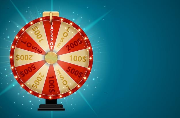 Rueda de la fortuna, lucky icon con lugar para texto. ilustración