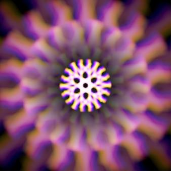 Rueda mística brillante con aberraciones de color.
