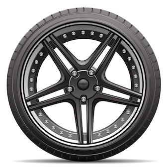 Rueda de neumático de coche aislada