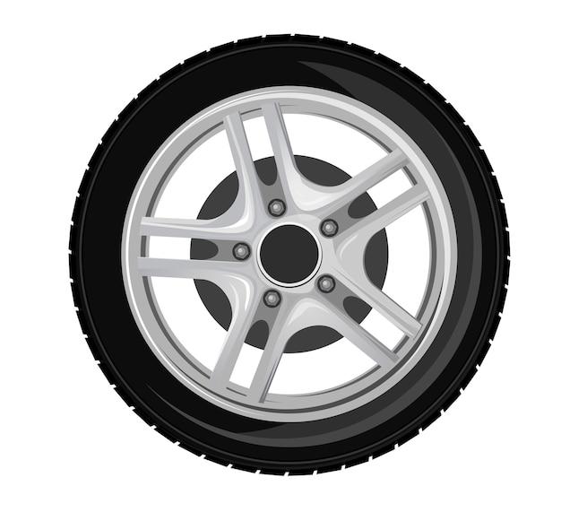 Rueda y neumático para transporte o servicio de diseño