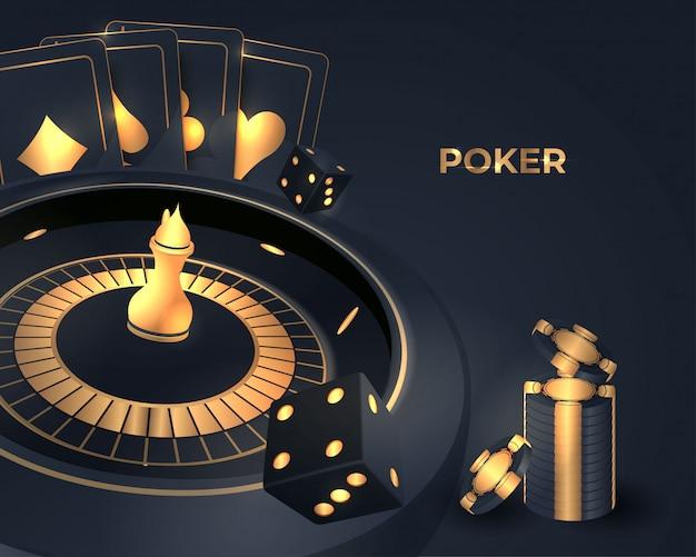 Rueda de ruleta de poker casino
