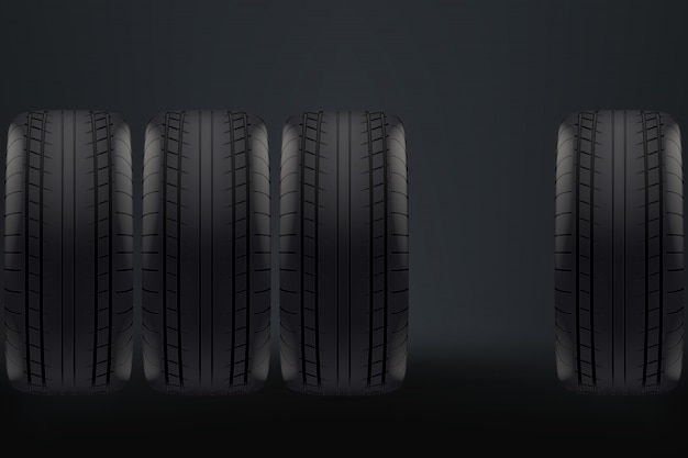 Ruedas de carro en la oscuridad