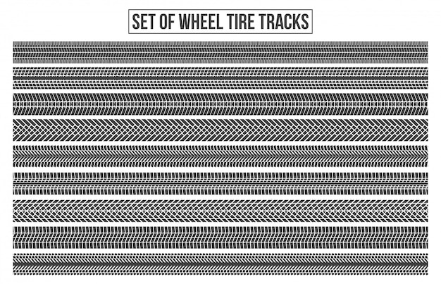 Ruedas de neumáticos de rueda. traza sinuosa.
