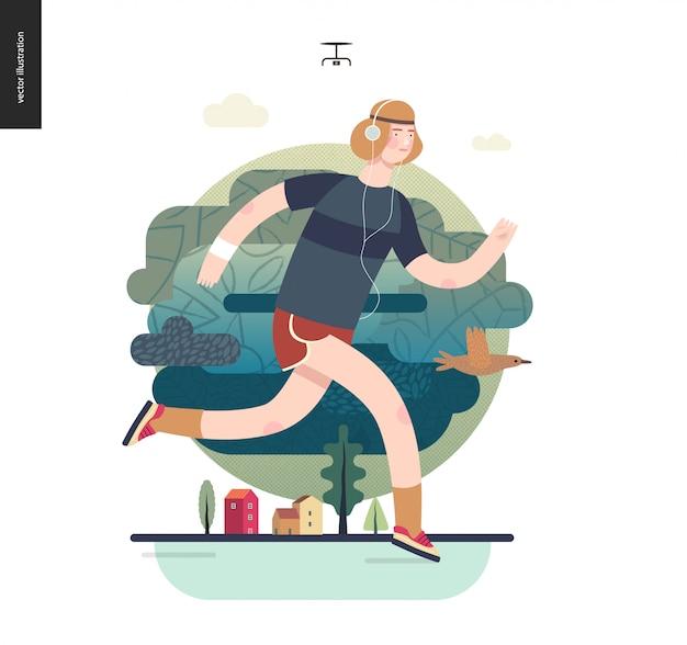 Runnersguy haciendo ejercicio