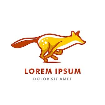Running logo fox