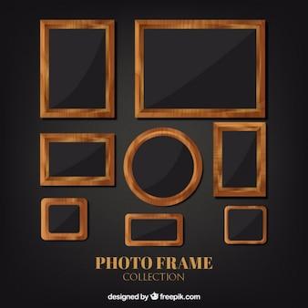 Rústicos marcos de fotografía de madera