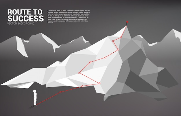 Ruta a la cima de la montaña