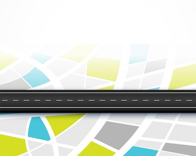 Ruta de viaje mapa de carreteras diseño de fondo de viaje
