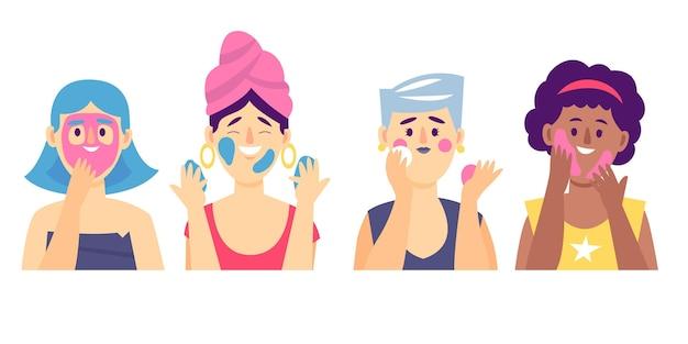 Rutina de cuidado de la piel mujer