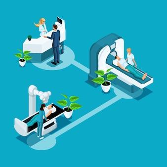 S atención médica y tecnologías innovadoras, institución médica, hospital, examen del personal médico del paciente