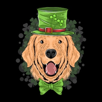 S t. patrick's day perro perrito lindo del perrito del perrito