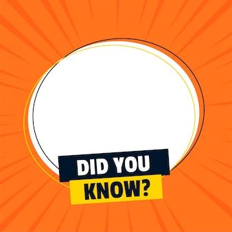 ¿sabías banner con espacio de texto?