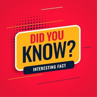 ¿sabías hechos?