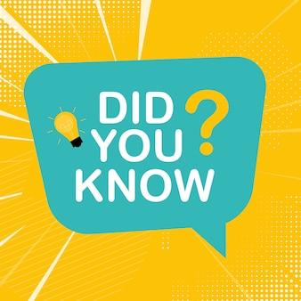 ¿sabías pegatina con bocadillo? ilustración