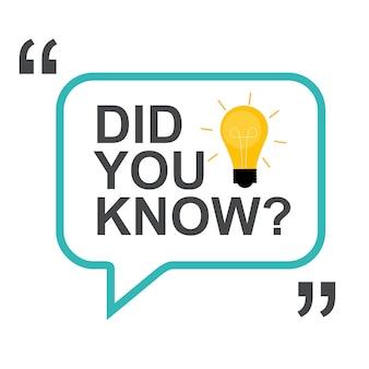 ¿sabías la pegatina con bombilla amarilla y bocadillo? ilustración