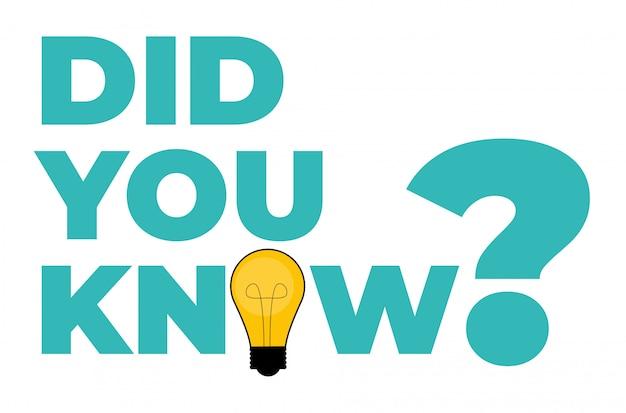 ¿sabías pegatina con bombilla amarilla? ilustración