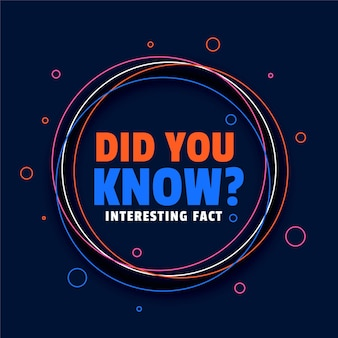 ¿sabías que el diseño de hechos interesantes?