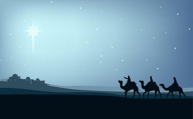 Sabios en camellos por el desierto