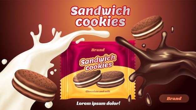 Sabor chocolate con leche con sabroso líquido retorcido