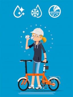 Saciar la sed después del ejercicio