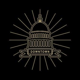 Sacramento logo línea arte estilo diseño
