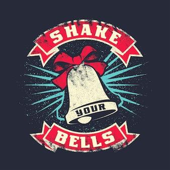 Sacude tu campana grunge estampado de letras vintage