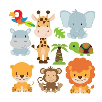 Safari animal set