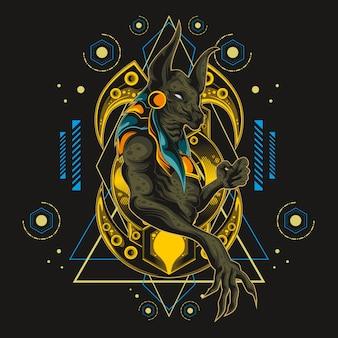 Sagrado anubis geometría sagrada