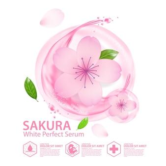Sakura colágeno solución cosmética natural para el cuidado de la piel