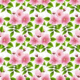 Sakura flor de patrones sin fisuras