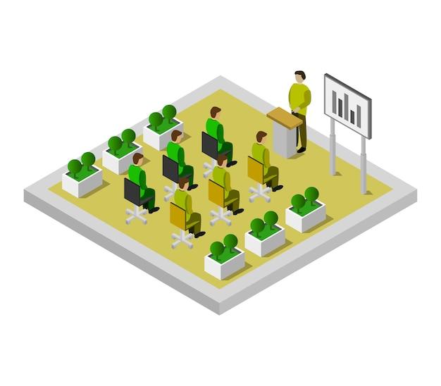 Sala de conferencias isométrica