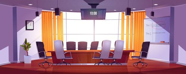 Sala de conferencias para reuniones de negocios.