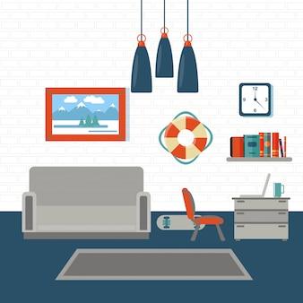 Sala de estar interior moderna